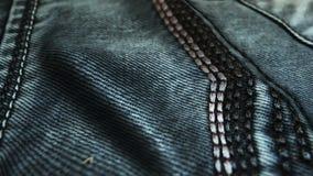 Realistische jeans die in de wind golven Abstracte ultra-HD resolutie als achtergrond De textuur van de close-upstof Naadloze lij vector illustratie