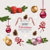 Realistische Kerstmisreeks vector illustratie