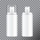Realistische kosmetische Sprühflasche Zufuhr für Creme, Balsam und andere Kosmetik Mit Kappe und außen Rand der Farbband-, Lorbee lizenzfreie abbildung