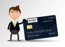 Realistische, lokalisierte, moderne, schwarze Kreditkarte Lizenzfreies Stockfoto