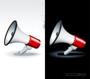 Realistische megafoons Royalty-vrije Stock Afbeeldingen