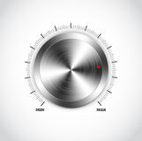 Realistische metaalknoop met cirkelverwerking stock illustratie