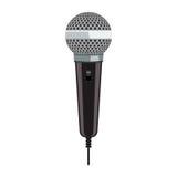 Realistische Microfoon voor Karaoke met het vlakke ontwerp van de kleurenstijl Royalty-vrije Stock Foto's