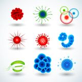 Realistische mikroskopische Viren 3d und Bakterien lokalisierten Vektorsatz Mikroskopisches Zellkrankheit, -bakterie und -mikroor lizenzfreie abbildung