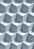 realistische mit Ziegeln gedeckte Würfel des Effektes 3D mit Schatten Vektor Abbildung