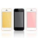 Realistische Mobiele Telefoons Stock Afbeeldingen