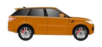 Realistische modelauto op achtergrond Gedetailleerde tekening Vector illustratie Royalty-vrije Stock Foto