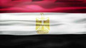 Realistische Naadloze Lijnvlag die van Egypte in de Wind met hoogst Gedetailleerde Stoffentextuur golven vector illustratie