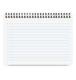 Realistische Notizbuch-Größe A4 mit horizontaler Linie Lizenzfreies Stockbild