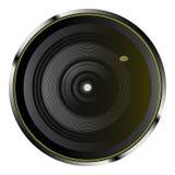 Realistische optische cameralens stock illustratie