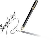 Realistische pen stock illustratie