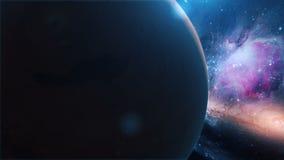 Realistische Planeet Mars van ruimte stock illustratie