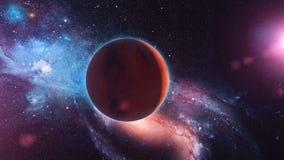 Realistische Planeet Mars van ruimte vector illustratie