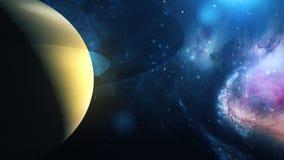 Realistische Planeet Saturn van ruimte stock fotografie