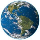 Realistische Planeten-Erde lokalisierte Vektor-Illustration lizenzfreie abbildung
