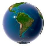 Realistische Planeten-Erde mit natürlichem Stockfotos
