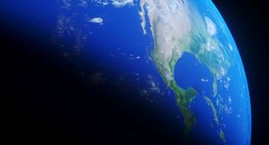 Realistische Planeten-Erdnahaufnahme Stockbilder