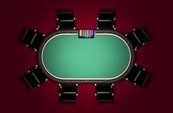Realistische Poker-Tabelle Stockfoto