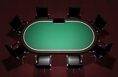 Realistische Poker-Tabelle Stockbilder