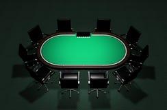 Realistische Poker-Tabelle Lizenzfreies Stockfoto