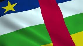 Realistische Republik- Zentralafrikaflagge stock footage