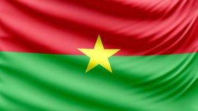 Realistische schöne Burkina Faso -Flagge 4k stock footage