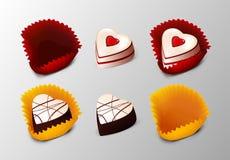 Realistische Smakelijke Dessertsinzameling stock illustratie