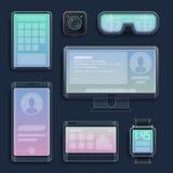 Realistische smartphones, tabletten en digitale apparaten Royalty-vrije Stock Foto