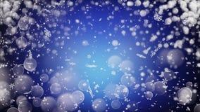 Realistische sneeuw Abstracte de winterachtergrond Stock Foto's
