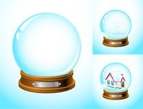 Realistische sneeuwbol Royalty-vrije Stock Foto's