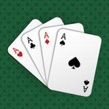 Realistische Speelkaartenazen van Alle Strepen Royalty-vrije Stock Fotografie