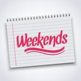 Realistische Spirale weekends Notizbuch  Stockfotografie