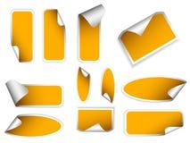 Realistische stickers met schilhoeken. Royalty-vrije Stock Afbeelding