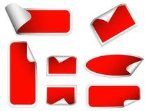 Realistische stickers met schilhoeken. Royalty-vrije Stock Fotografie