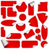 Realistische stickers met schilhoeken. Royalty-vrije Stock Afbeeldingen