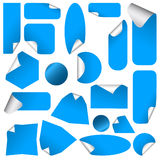 Realistische stickers met schilhoeken. Stock Foto's