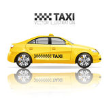 Realistische Taxi-Illustration Lizenzfreie Stockfotos