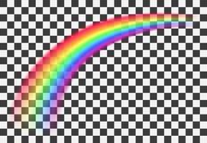 Realistische transparante kleurrijke regenboog in perspectief Vector illustratie royalty-vrije illustratie