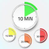 Realistische Uhrtimer-Stoppuhrvektorikone Lizenzfreies Stockfoto