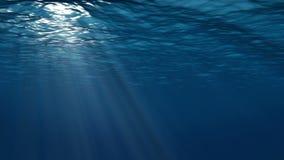 Realistische Unterwasserszene mit Sonnenstrahlen stock abbildung