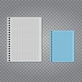 Realistische vectornotitieboekjereeks Stock Afbeeldingen