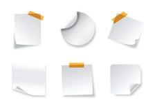 Realistische vectorstickers met schilhoeken stock illustratie