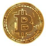 Realistische Vektor bitcoin Münze Stockfoto