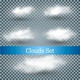 Realistische Vektorwolken stock abbildung