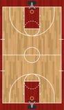 Realistische Verticale Basketbalhof Illustratie vector illustratie
