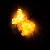 Realistische vurige explosie Royalty-vrije Stock Afbeeldingen