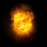 Realistische vurige explosie Royalty-vrije Stock Fotografie