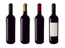 Realistische Weinflaschenillustration Auch im corel abgehobenen Betrag Differe Vektor Abbildung