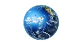 Realistische Weltkarte-Verpackungen zur Kugel (weißes BG) stock video footage