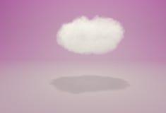 Realistische wolk in studio op roze achtergrond Royalty-vrije Stock Fotografie